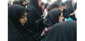 تجمع اعتراضی دانشجویان و اساتید دانشگاه الزهرا